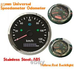 0125km/h GPS Speedometer IP67 Panel Stainless Steel Bezel for Motorcycle Boat