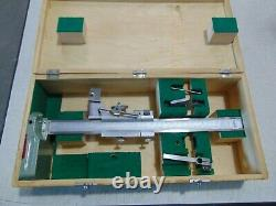 12 Vertical Height Gauge Stainless Steel With Wood Box