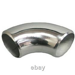 1.75 OD 304 Stainless Steel Elbow 90 Degree Pipe Polished 11 Gauge