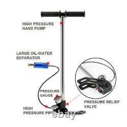 3 Stage 4500 PSI High Pressure Air Tank Rifle PCP Hand Pump 40Mpa Gauge Hunting