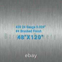 430 48 X 120 Stainless Steel Sheet Wall Covering, 24 Gauge 0.024