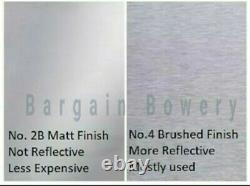 430 4' X 10' Stainless Steel Sheet Wall Covering, 24 Gauge 0.024