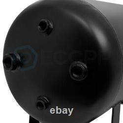 5 Gallon Air Tank 200 PSI Black With Air Gauge Switch For Train Truck Van Horn