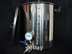 70ltr stainless steel stockpot tap and temperature gauge sight Glass Kettle brew