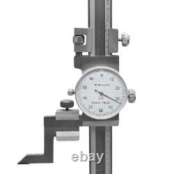 8'' Dial Height Gauge Graduation. 001'' Shock Proof Stainless Steel Height Gage
