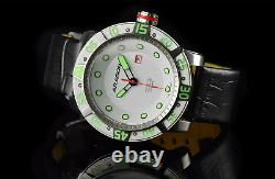 ARAGON Gauge Automatic 55mm NH35 AUTOMATIC Piano White Dial withDate Leather Strap