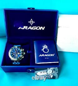Aragon New A171 Gauge Men 55mm Swiss Made Valjoux 7750 Automatic Chronograph