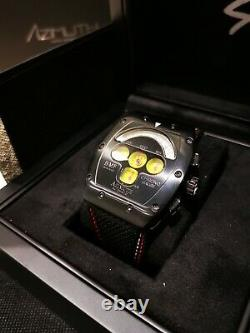 Azimuth CHRONO GAUGE BMF PVD with yellow dial