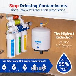 Deionization Reverse Osmosis Water Filtration System RO DI with Gauge 100 GPD