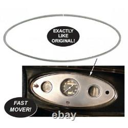 Gauge Cluster Dash Trim for 1932 Ford (Oval Stainless Steel) Fits All Models