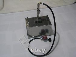 Goede stainless steel propane foundry/forge burner, with 0-30 regulator and gauge