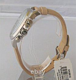 Michael Kors Men's Gage Taupe Leather Strap Chronograph Watch MK8616