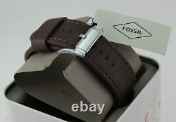 New Authentic Fossil Gage Chronograph Black Brown Leather Men's Bq1712 Watch