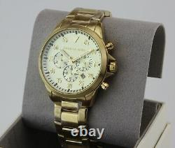New Authentic Michael Kors Gage Gold Chronograph Men's Mk8491 Watch