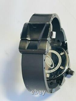 OAKLEY 12 GAUGE STEALTH BLACK WATCH Swiss Made Chronograph with Black Dial Mens