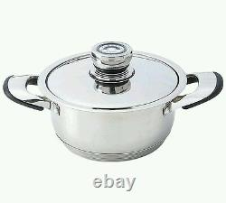 Pots And Pans Chef's Secret 12pc 9-Ply Heavy-Gauge Stainless Steel Cookware Set