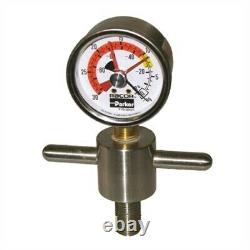 Racor RK19671 Stainless Steel T-Handle Vacuum Gauge f 500FG 02&UP, 900MA-1000MA