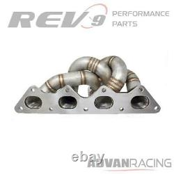 Rev9 HP Turbo Manifold T304 SS 11 Gauge Pipe for Mitsubishi 4G63T Eclipse GST