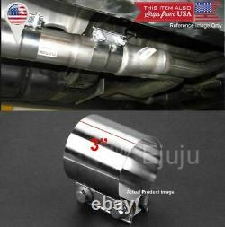 Stainless Butt Joint Exhaust Clamp Sleeve Band Strap For BMW 3 Exhaust OD Pipe
